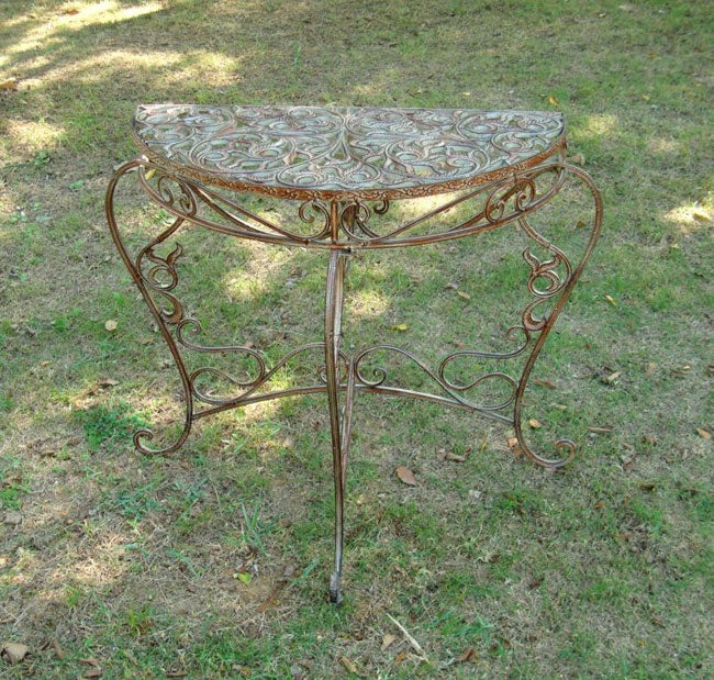 Iron Half Moon Wall Table
