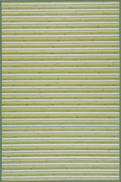 Handmade Lime Green Bamboo Runner (2'x7')