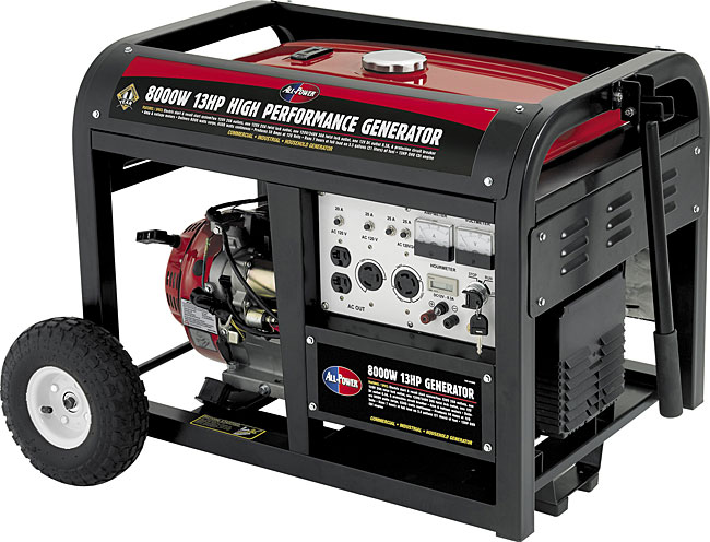 8000-watt 13HP Electric Generator with Mobility Kit