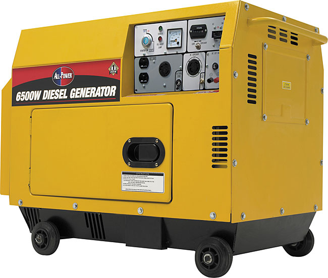 Overstock.com All-Power 6500 Watt 10HP Electric Start Diesel Generator at Sears.com