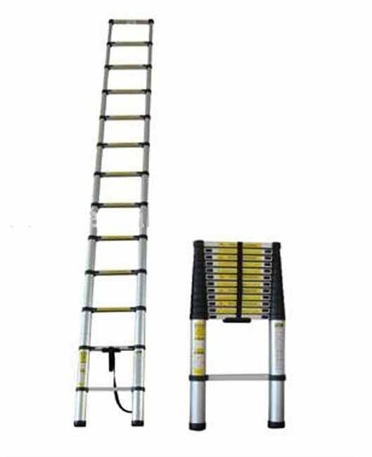Heavy Duty Aluminum 12 Foot Telescoping Ladder 11190824