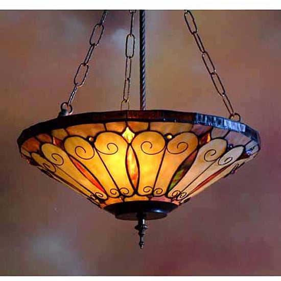 tiffany style stained glass inverted hanging lamp 11190923. Black Bedroom Furniture Sets. Home Design Ideas