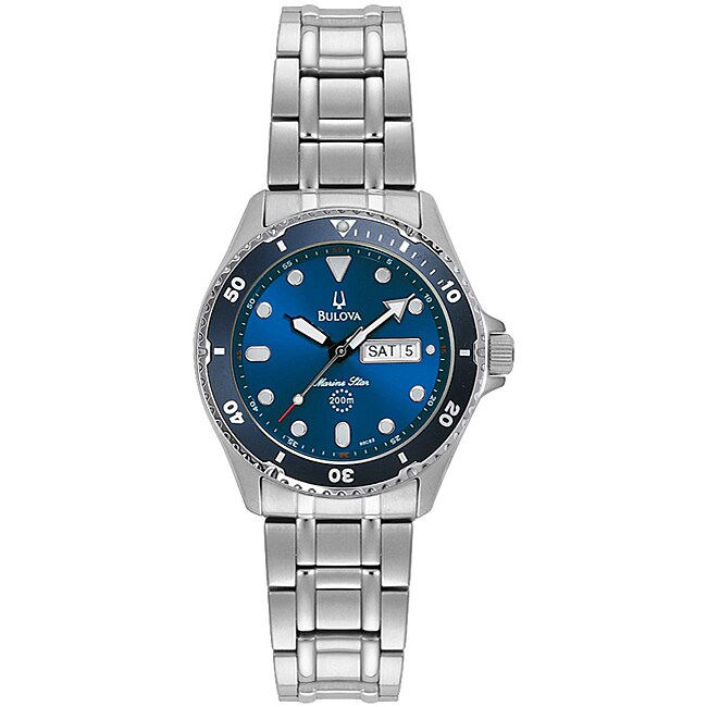 Bulova Marine Star Mens Stainless Steel Watch