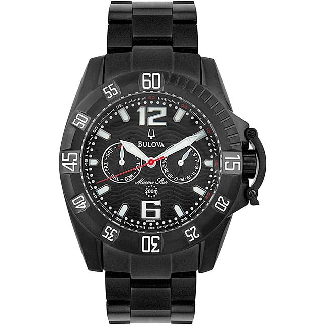 Bulova Marine Star Mens Black PVD Watch