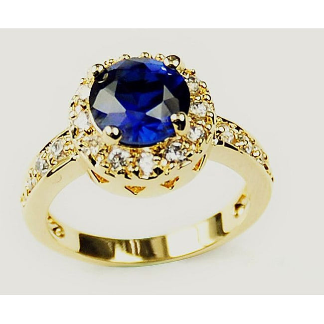 Eziba Collection Simon Frank 14k Yellow Gold Overlay Solitaire Ring at mygofer.com