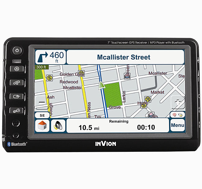 Invion 7-Inch Touch Screen GPS with Bluetooth