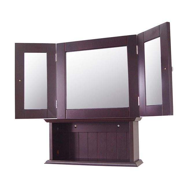 Windham 3 way mirror overstock shopping great deals for Bathroom 3 way mirror