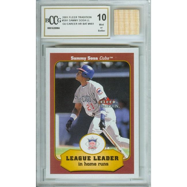 Sammy Sosa Card and Game Used Home Run Bat