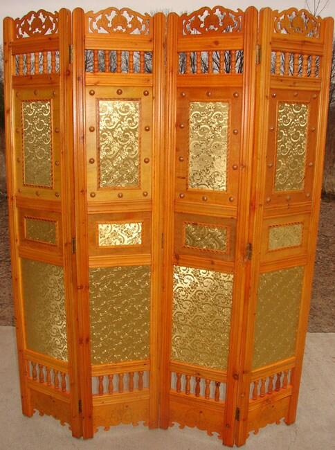 Victorian Floral Wooden Room Divider