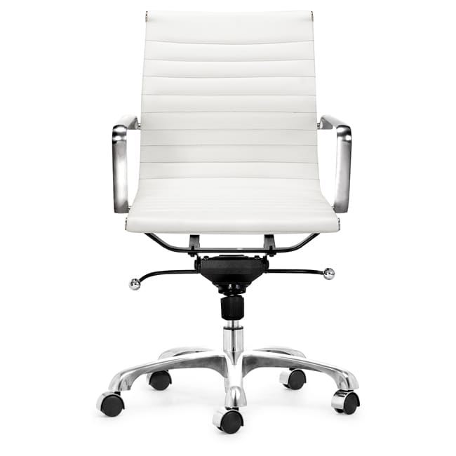 Manhattan Adjustable White Office Chair
