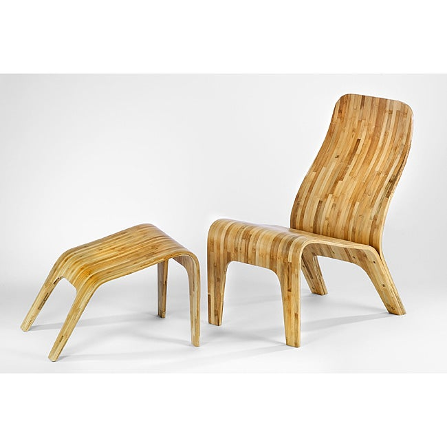 Tre Bamboo Lounge Chair and Ottoman