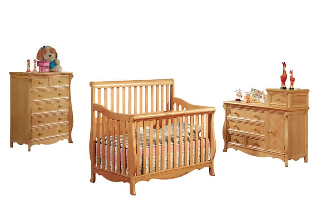 Jamie Crib, Changing Table, and Chest/Dresser Set