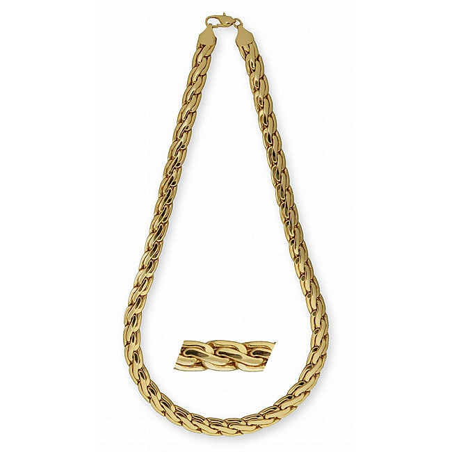 Simon Frank 14k Yellow Gold Overlay 24-inch Pharaoh Chain