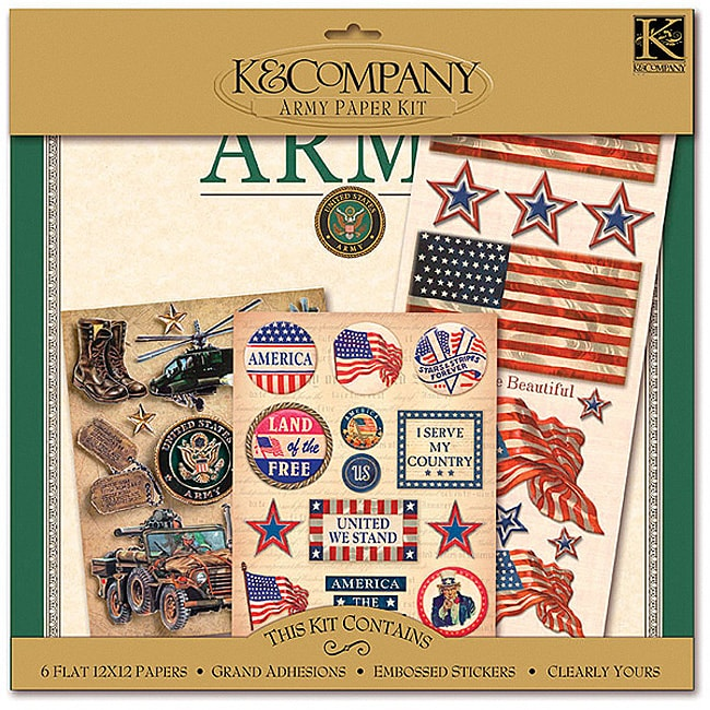 K&Company Army 12x12 Scrapbook Layouts at Sears.com