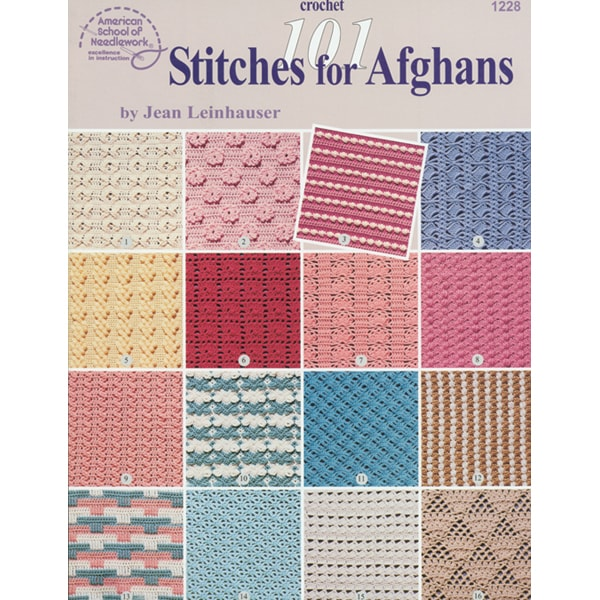 101 Crochet Stitches Jean Leinhauser : 101 Stitches for Afghans by Jean Leinhauser - 11255787 - Overstock ...