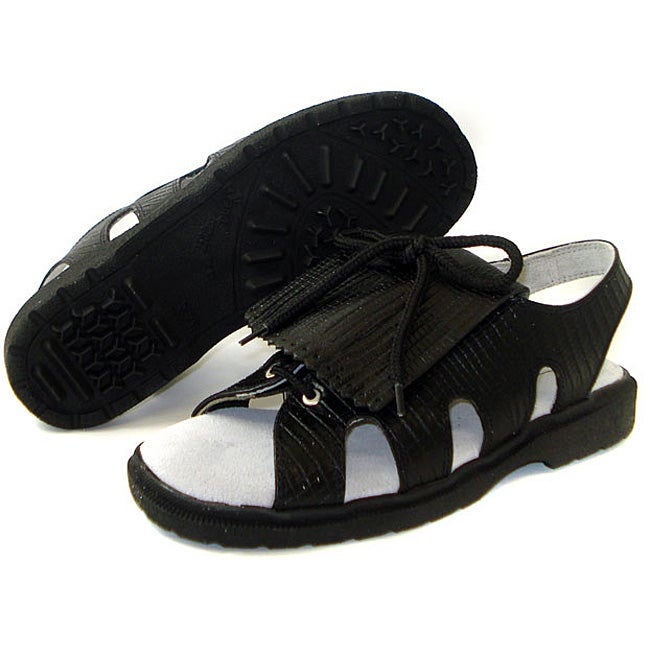 Sandbaggers Kiltie Black Lizard Golf Sandals (size 5 and 11 only)