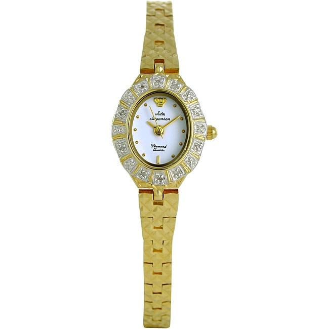Jules Jurgensen Women's Diamond and Gold Watch