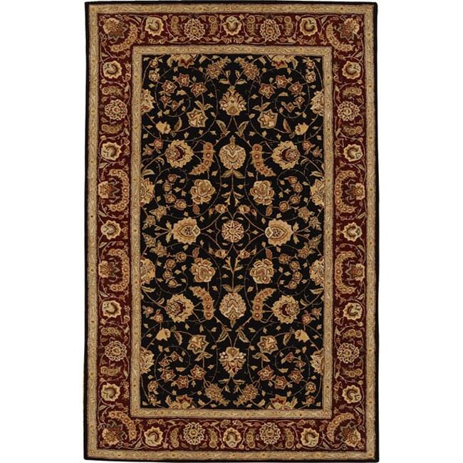 Nourison 2000 Hand-tufted Black Wool Rug (3'6 x 5'6)