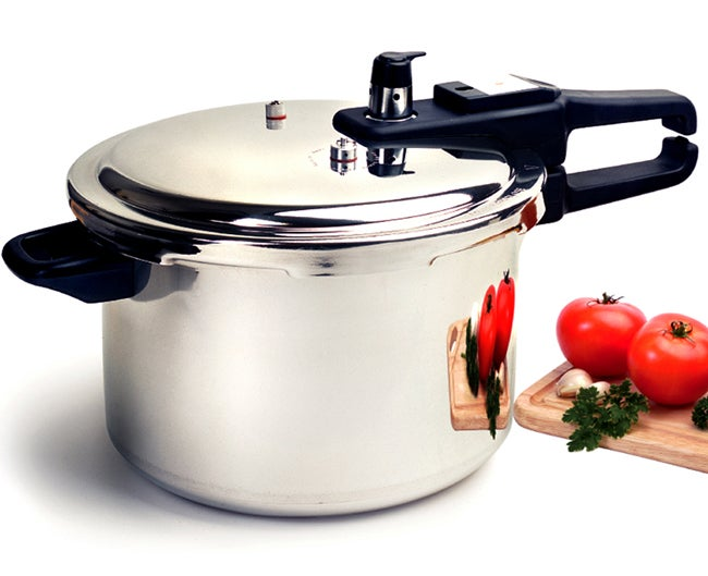 8-quart Pressure Cooker with Safety Valve
