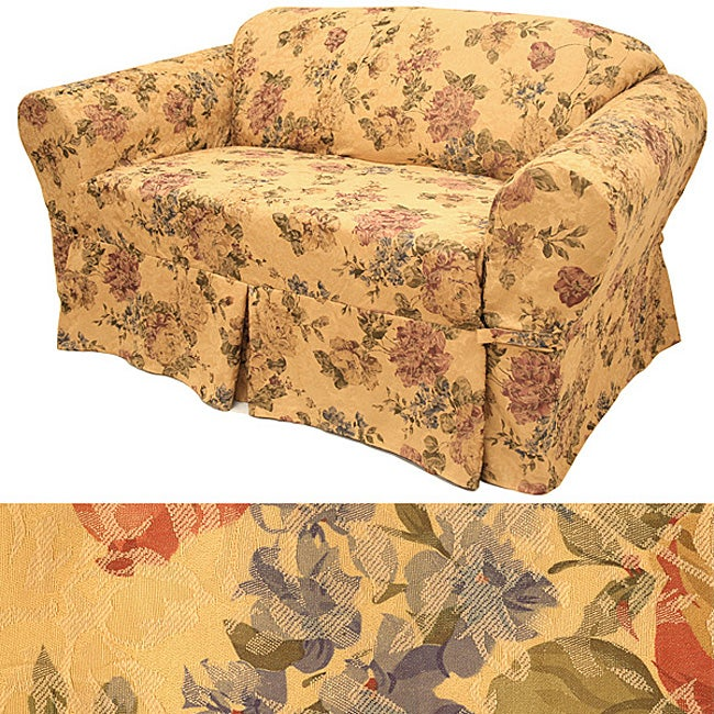 Damask Floral Sofa Slipcover