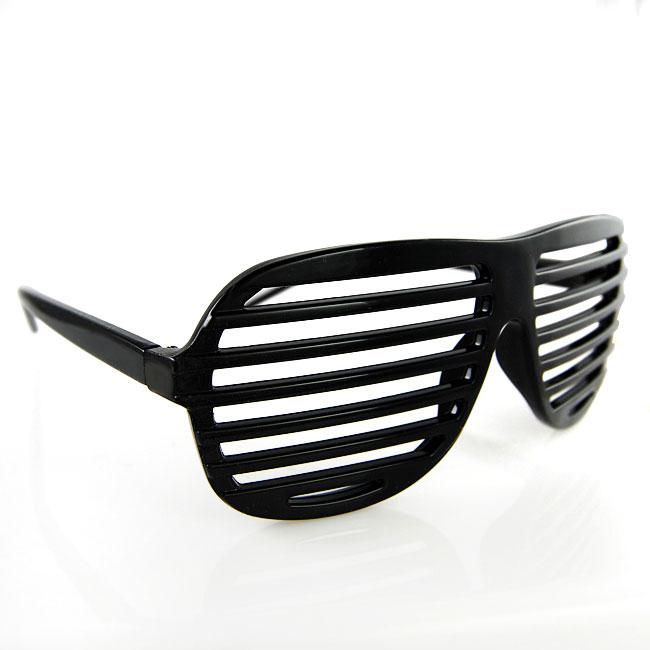 Shutter Shades Black Sunglasses