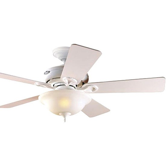 Hunter White 44 Inch 5 Blade Ceiling Fan With Light