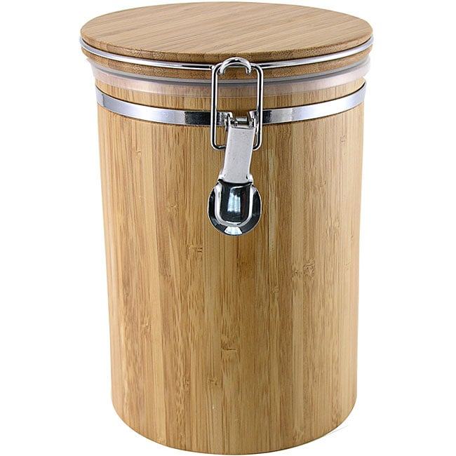 Large Bamboo Kitchen Storage Canister 11297187 Shopping Top Rated Metro