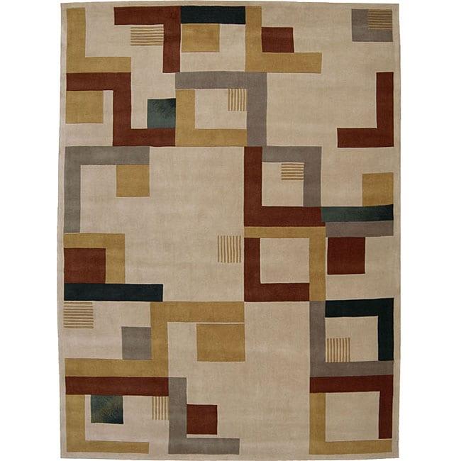 Nourison hand tufted dimensions beige rug 7 39 6 x 9 39 6 for 7x9 bathroom designs
