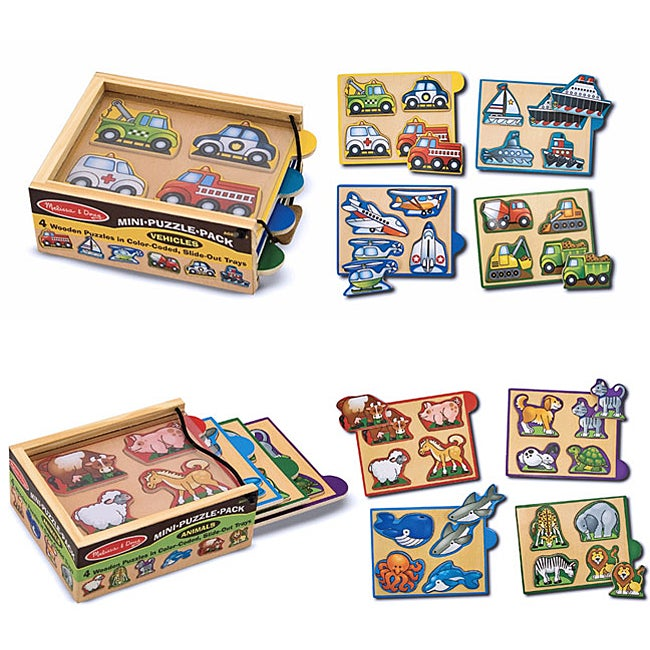 Children's Mini Puzzles (Set of 8)
