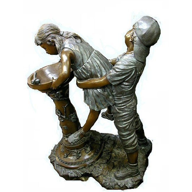 Bronze Boy Holding a Girl Up