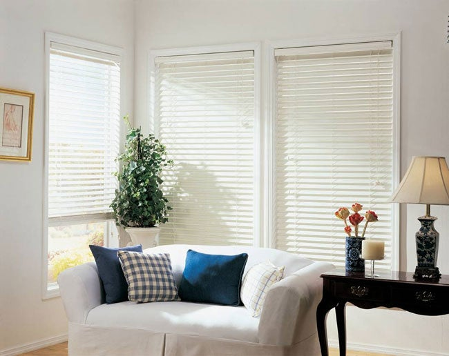 Faux-wood 2-inch Blinds (35 in x 64 in)