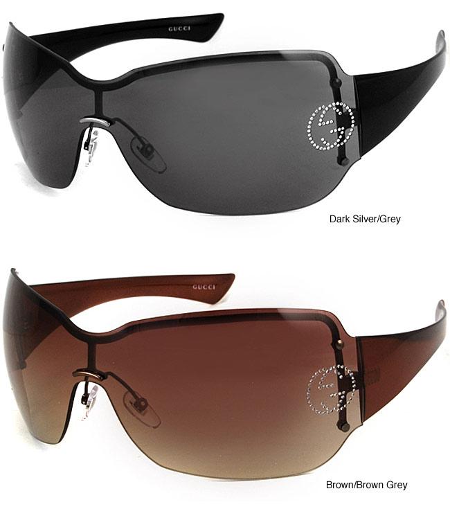 Gucci Rimless Glasses : Gucci 1825 Strass Oversized Rimless Sunglasses - 11308823 ...