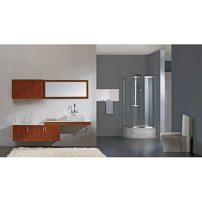 Burl Modern Bathroom Vanity Set
