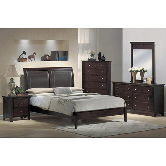 monte carlo 5 piece low profile queen bedroom set