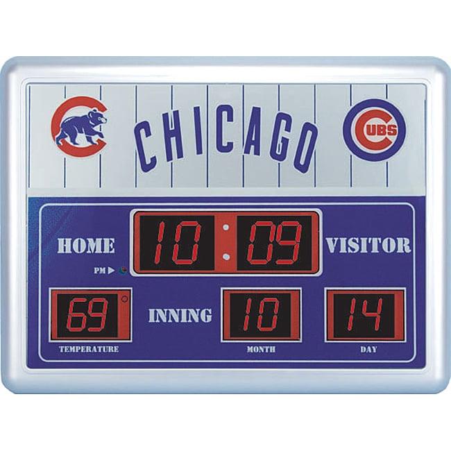 Chicago Cubs Scoreboard Clock 11346465 Overstock Com
