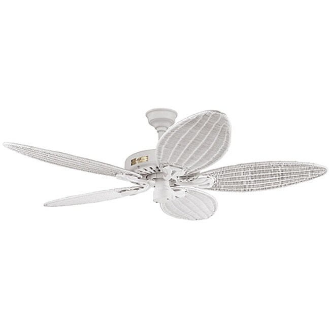 Hunter 54-inch Tropical White Textured Ceiling Fan