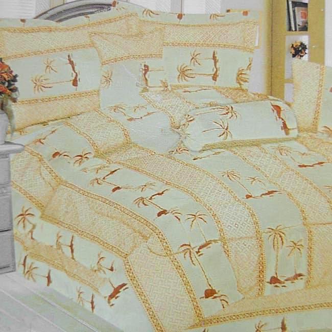 Ysela Palm Tree Print 7-piece Comforter Set