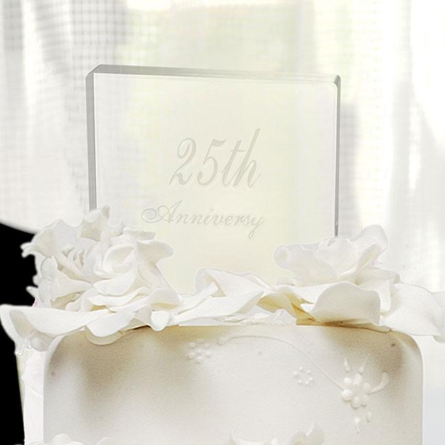 25th Wedding Anniversary Cake Topper