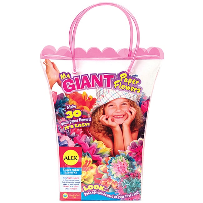 Alex My Giant Tissue Paper Flowers Craft Kit and Carrying Case
