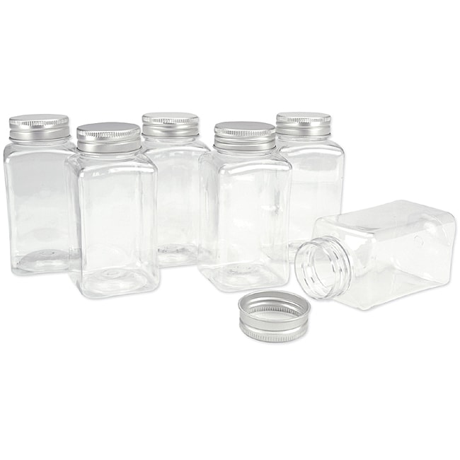Clear Scrapbook Small Storage Jars