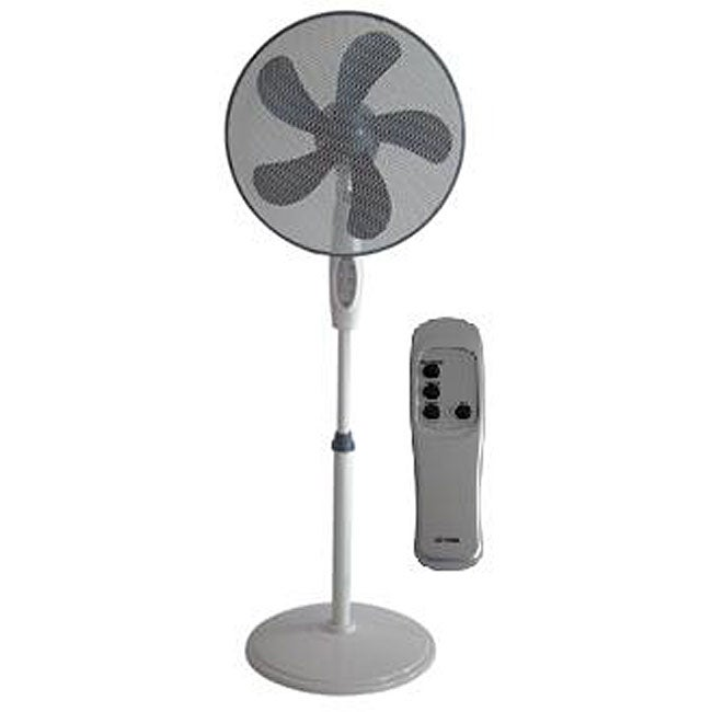 Big Stand Up Oscillating Fan : Optimus inch remote control oscillating stand fan