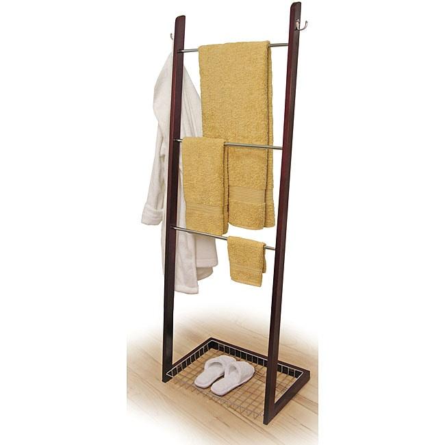 Three Tier Bath Ladder Towel Rack 11387464 Overstock