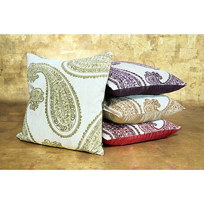 Sophia Paisley Velvet Pillow