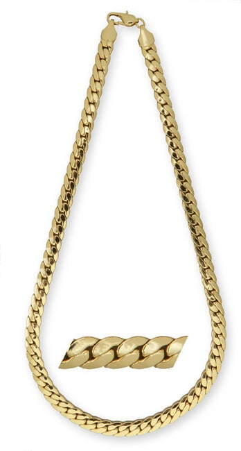 Simon Frank 14k Yellow Gold Overlay 20-inch Tight Cuban Chain