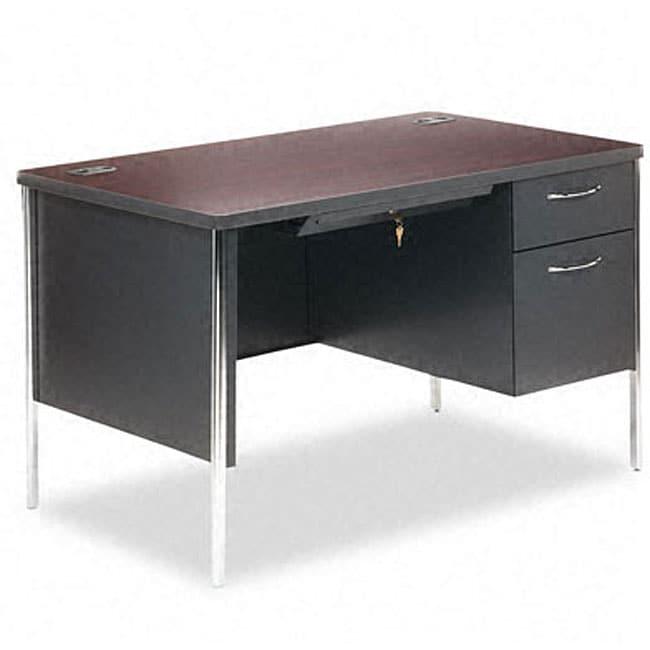 hon 34000 series 48 inch right pedestal steel desk