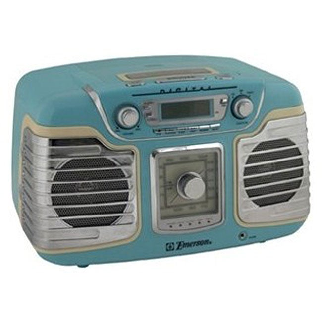 emerson ret66tqc retro style radio cd player. Black Bedroom Furniture Sets. Home Design Ideas