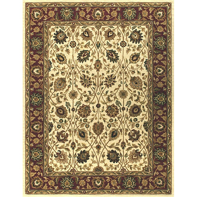 Alexander Home Hand-tufted Mason Ivory and Red Wool Rug (8' x 11') at Sears.com