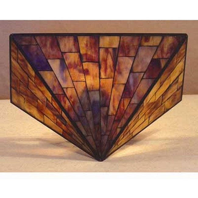 Leaded Glass Wall Sconces : Tiffany-style Stained Glass Mission Wall Sconce - 11413116 - Overstock.com Shopping - Great ...