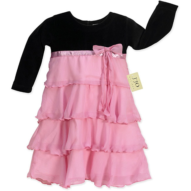 Sweet Jojo Designs Baby Girl's Black and Pink Dress