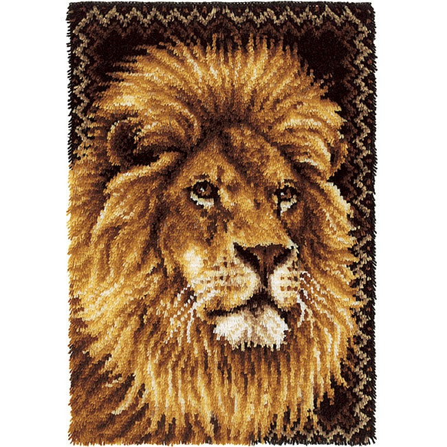 Wonderart Lion Latch Hook Rug Kit